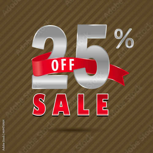 25 percent off, 25 sale discount text- vector EPS10