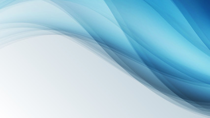 blue waves creative  lines abstract background vector