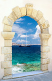 Fototapeta Traditional architecture on Mykonos island, Greece