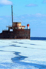 Old Ship Frozen Lake Ontario