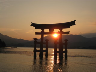 Torii and Sunset