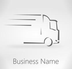 logo camion design gris