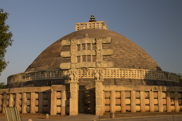Great Stupa at Sanchi. Madhya Pradesh, India