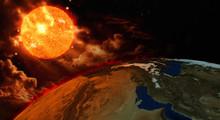 Ziemi i słońca globalne ocieplenie koncepcji