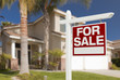 Home For Sale Sign in Front of New House - 64479058