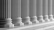Leinwanddruck Bild - White ancient marble pillars in a row