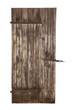 Alte Holztüre von einem Stall isoliert