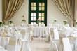 Leinwandbild Motiv Table set for an event party or wedding reception
