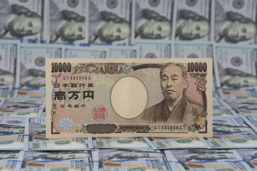 Japanese Paper Currency yen and USA Paper Currency dollar: