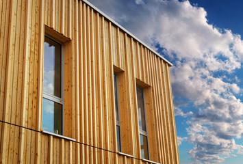 Modern House with wooden Facade