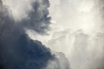 dark dramatic clouds before rain