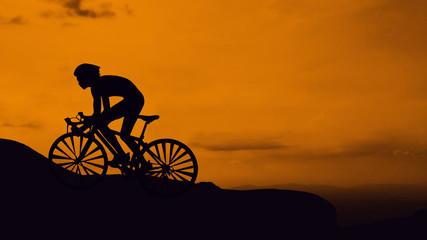Cycling triathlon at mountain