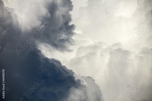 dark dramatic clouds before rain - 64481018