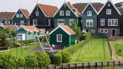 Historic Dutch fishermen village called Marken