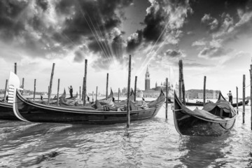 The Gondolas with beautiful sky