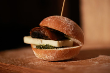 Vegetarian Hamburger Slider
