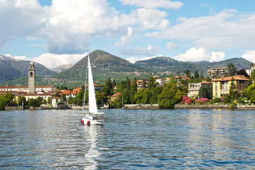 View of Pallanza on Lake Maggiore