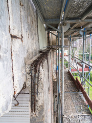 reinforced concrete structure deteriorated
