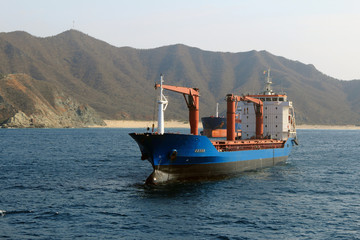 Container Ship in Ballast