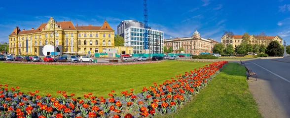 Zagreb Marshal Tito square panorama