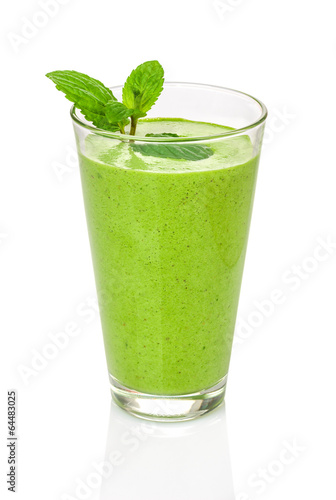 canvas print picture Grüner Smoothie mit Minze