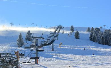 Ski resort Zillertal Arena. Gerlos, Austria.
