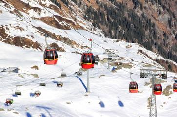 Ski resort Kitzsteinhorn / Kaprun, Austria