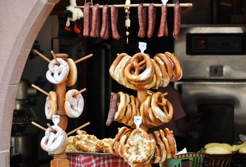 Bretzels - specialities of the Alsace, France