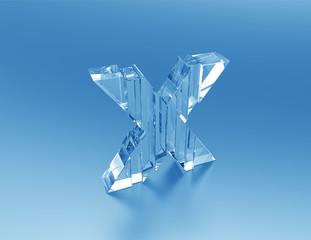 Letter X 3d concept