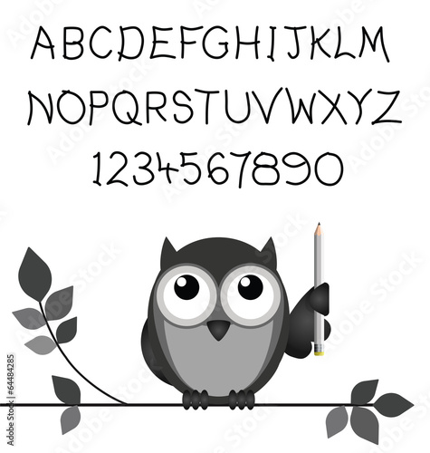 Bespoke handwritten alphabet and numbers