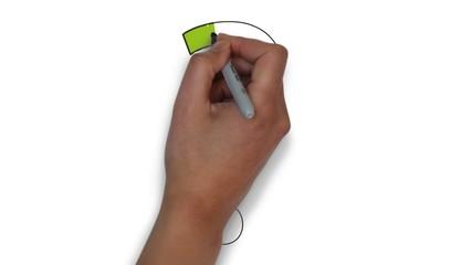 Frage Fragezeichen rot Zeichnung zeichnen Hand