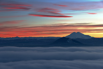 Evening View of Elbrus.