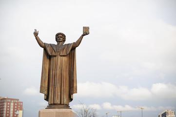 Francis Scorina's monument in Minsk