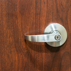 Locked door handle
