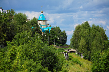 Wooden Church of Theodor Icon of Mother of God in Kirov, Russia