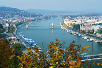 View on Budapest and Danube river, Hungary