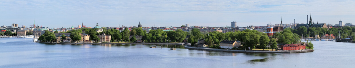 Panorama of islands Skeppsholmen and Kastellholmen in Stockholm
