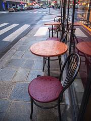 Paris, France. Summer outdoor cafes