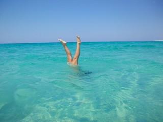 gambe fuor d acqua