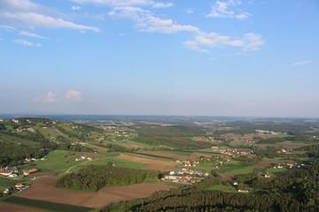 Landschaft Ballonfahrt