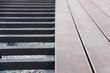 Leinwandbild Motiv hausbau terrassen dielen III