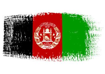 Brushstroke Flag Afghanistan