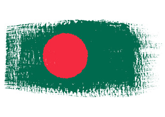 brushstroke flag Bangladesh