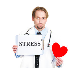 Stressed leads to heart disease. Doctor reminds to take it easy