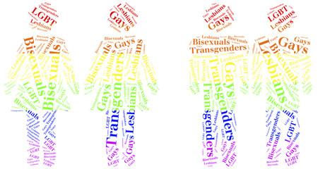 Word cloud illustration homosequality related