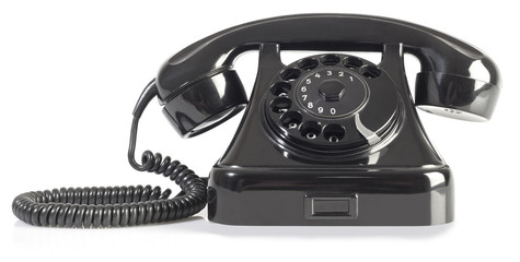 Black Bakelite Telephone Cutout
