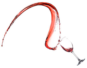 Red Wine Splash in glass