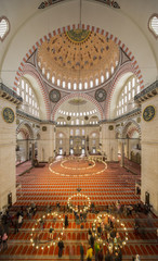 Internal view of Suleymaniye Mosque, Istanbul
