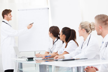 Young Doctor Giving Presentation To Colleagues