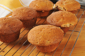 Home made banana nut muffins